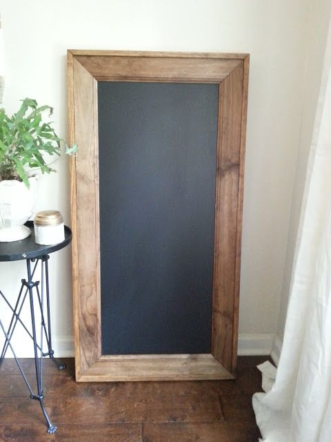 Restoration hardware chalkboard knockoff oak house design co stained wood before attaching used  clear pine for outer trim attached with  nail gun also rh pinterest