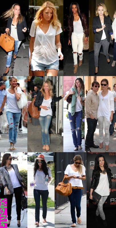 Celebrities doing it right: White T-shirt   Jeans | Keep Calm and ...