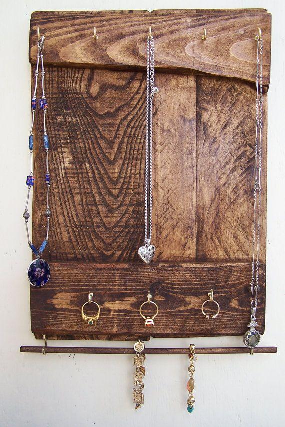 Jewelry Organizer Rustic Jewelry Holder Craft Organizer