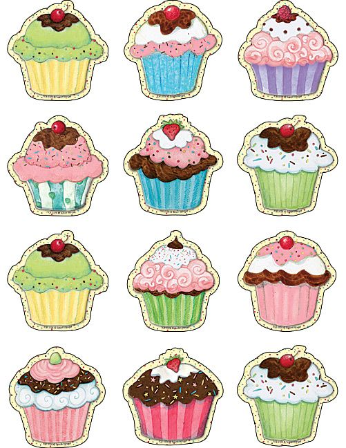 Cupcakes Mini Accents from Susan Winget (TCR5128) « Products | Teacher Created Resources