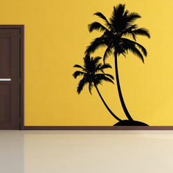 Dual Palm Tree Island Wall Decal   Wallums.com