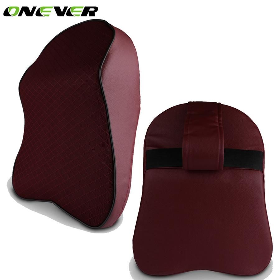 Onever car neck pillow head headrest pad breathable memory foam