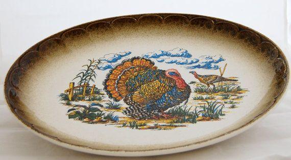 Turkey Platter Made in Italy | Vintage 195 Lefton Ceramic Turkey Platter by VintageHouseandHome, $30 ...