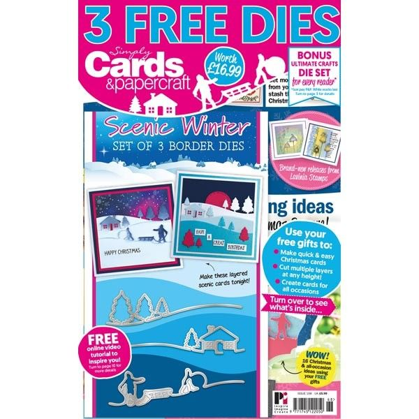 card making magazines with free dies