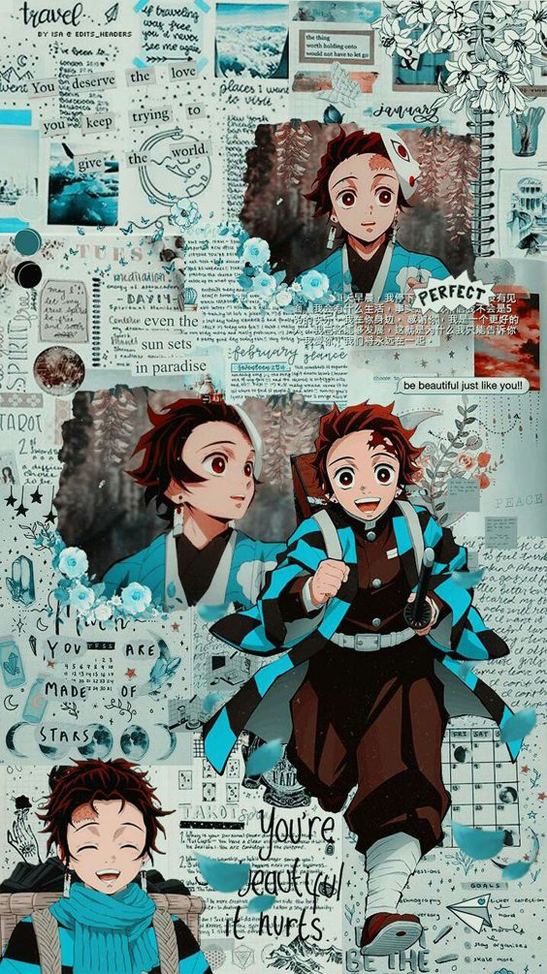Most Latest Aesthetic Anime Wallpaper Iphone Tanjiro Kamado Wallpeper For Mobile And Smartphone Of Kimetsu No Yaiba Get A Free Mobile App For This Wallpaper In Em 2020 Animes Wallpapers Personagens