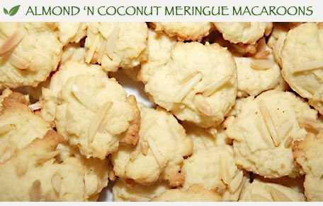 Almond N Coconut Meringue Macaroons