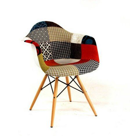 Eames Style Patchwork Upholstered Arm Shell Chair In Lower Manhattan,  Manhattan ~ Apartment Therapy Classifieds