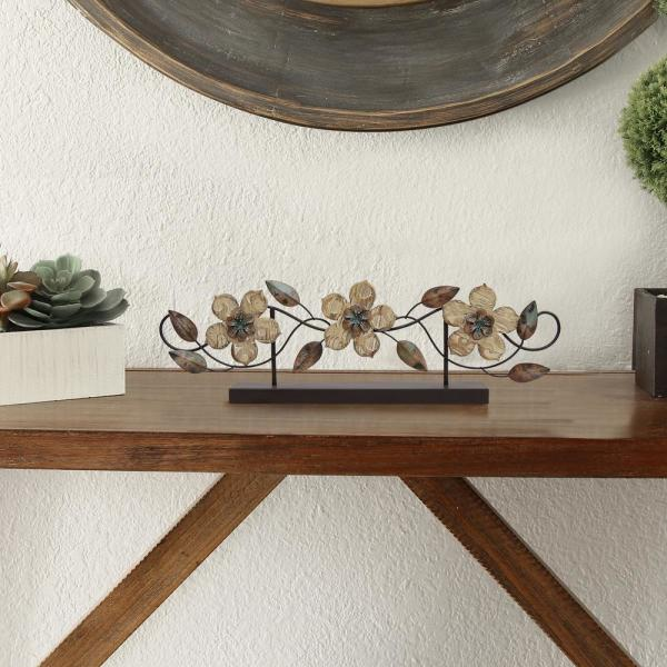 Stratton Home Decor Stamp Wood Flower Table Top S07669 Stratton Home Decor Table Top Decor Home Decor