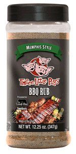 Three Little PigsMemphis Style BBQ Rub12.25 oz  Developed for beef, great on brisket orsteak.