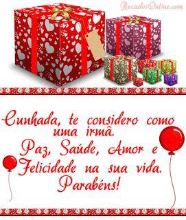 Mensagem De Aniversário Para Cunhada Linda E Carinhosa Parabéns à