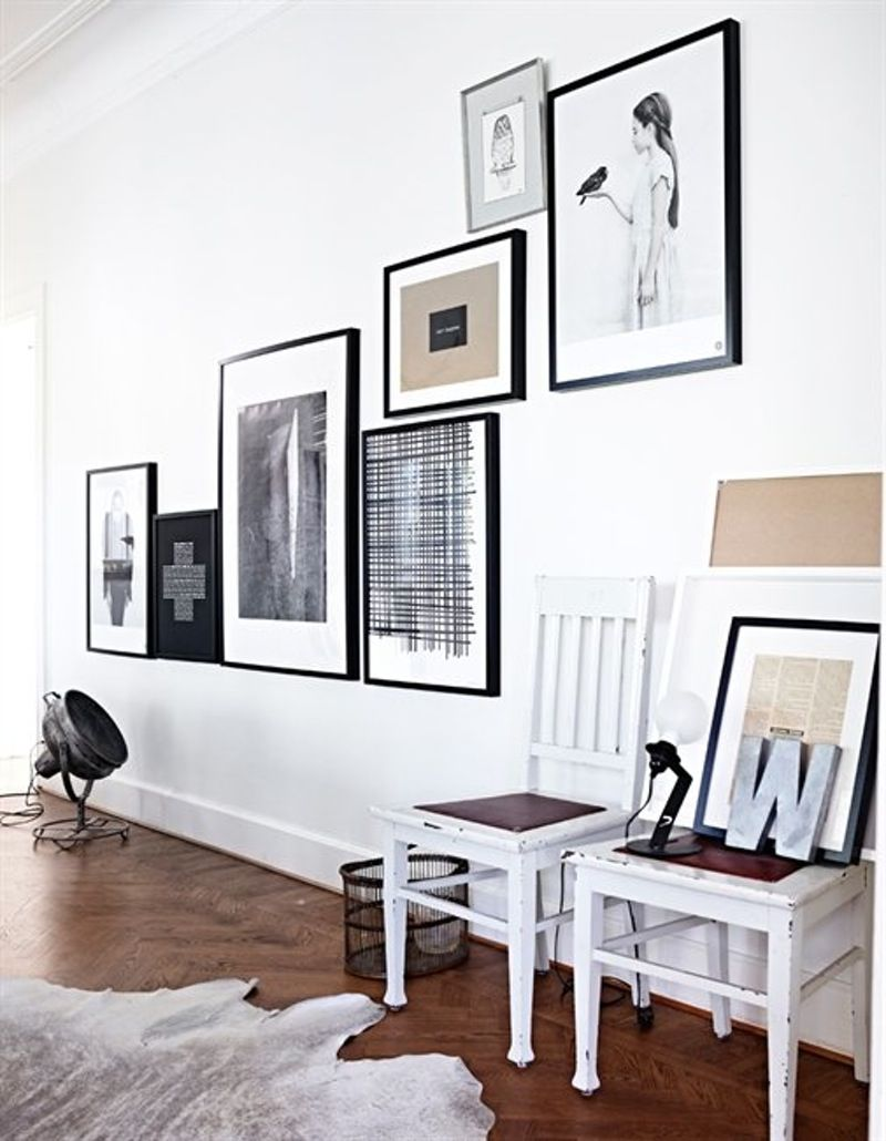 Classic Art Hanging Trend: How to Hang Art Off Center | Hanging art ...