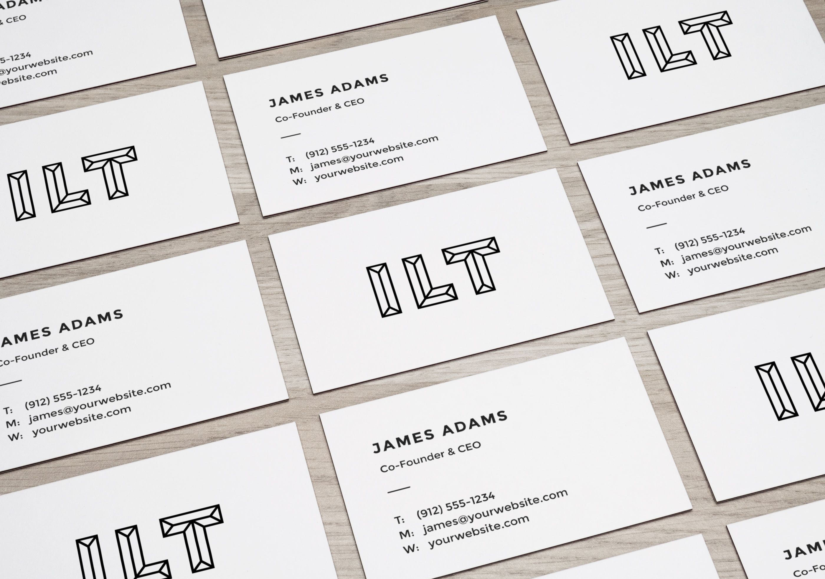 perspective business cards mockup resources