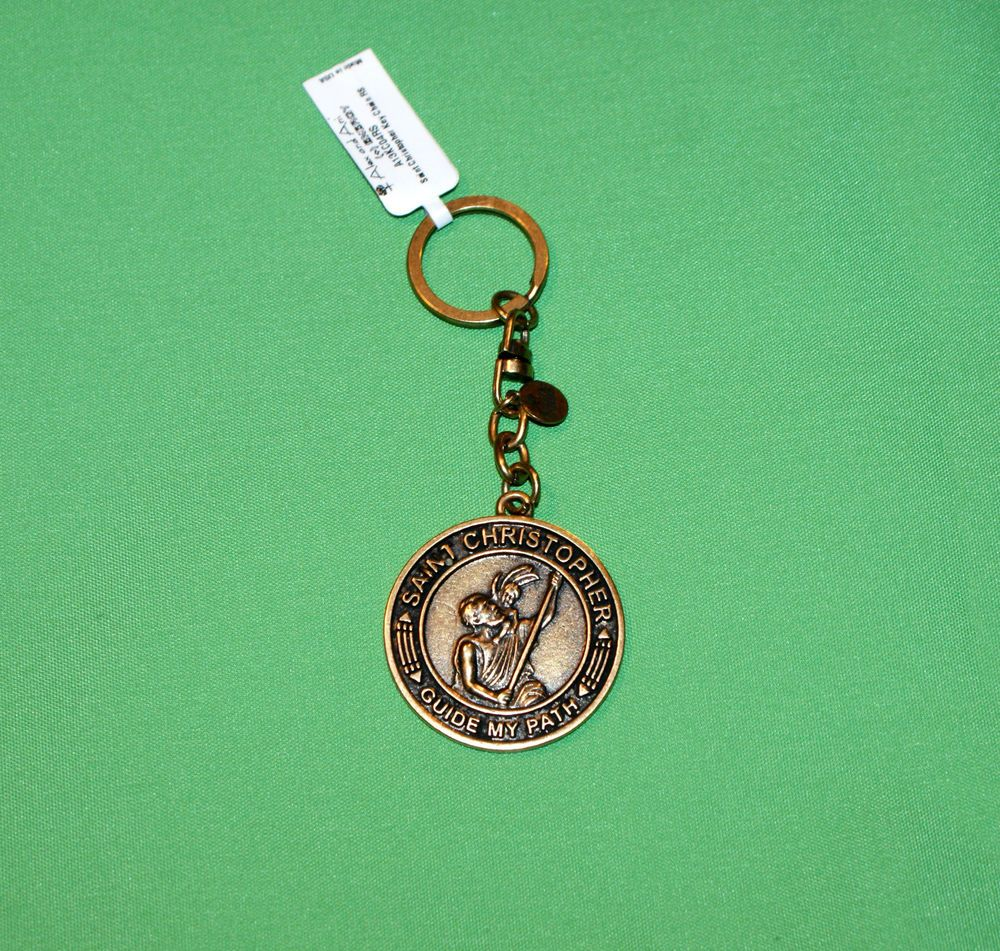 Alex and Ani Saint Christopher  Keychain - Russian Gold ::NWT::