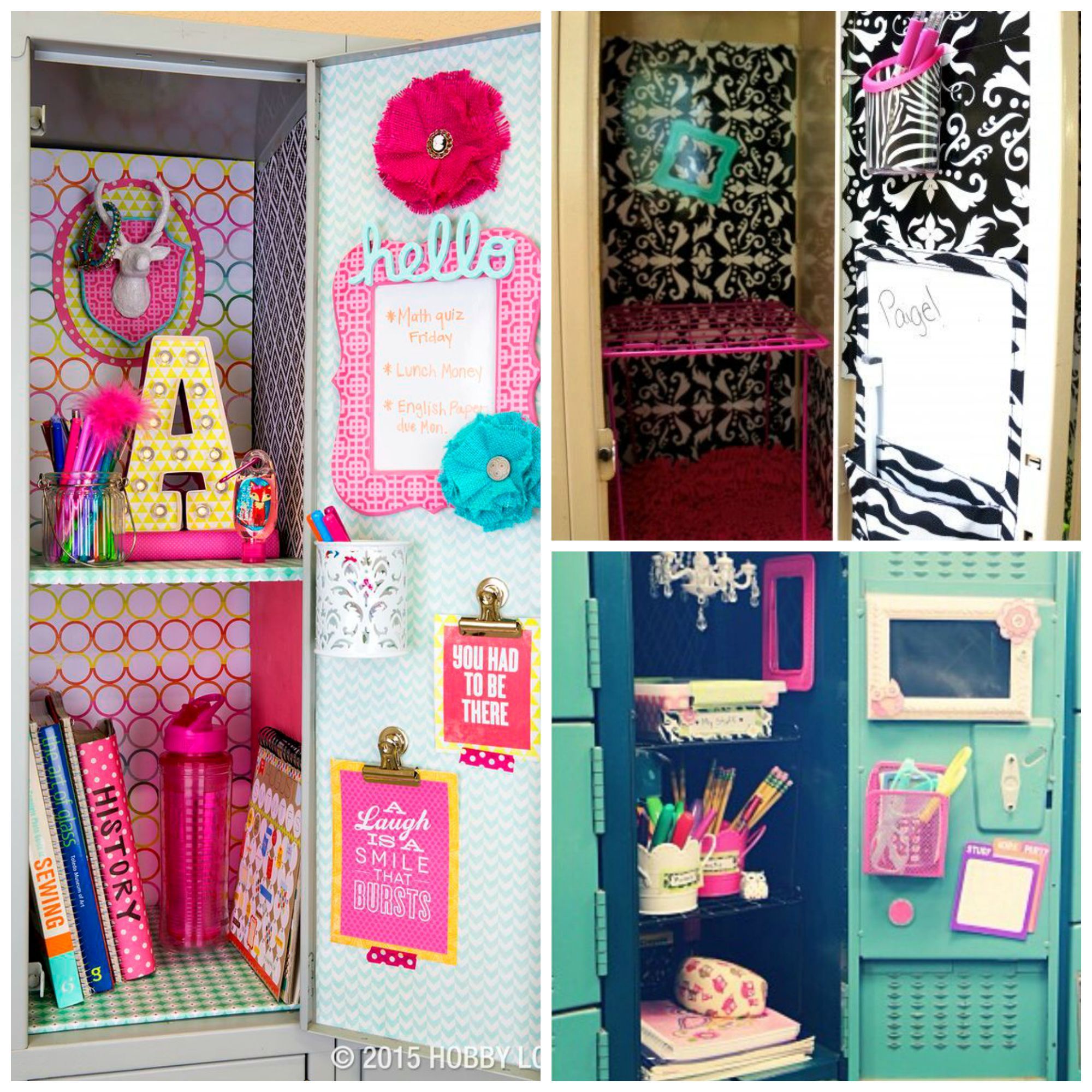 Girl 39 s locker decorations echoes 2017 prop research for Accessoire decoration