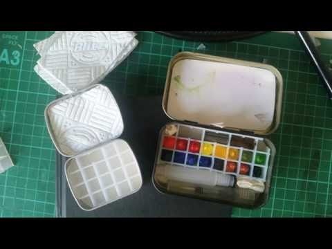 Diy Compact Watercolor Travel Palette Tin X2f Kit By Amy Louise