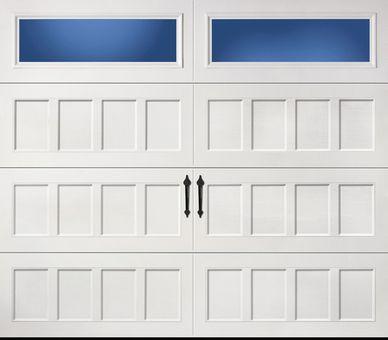 Amarr Oak Summit Recessed Panel Clear Rec 8x7 Garage Doors