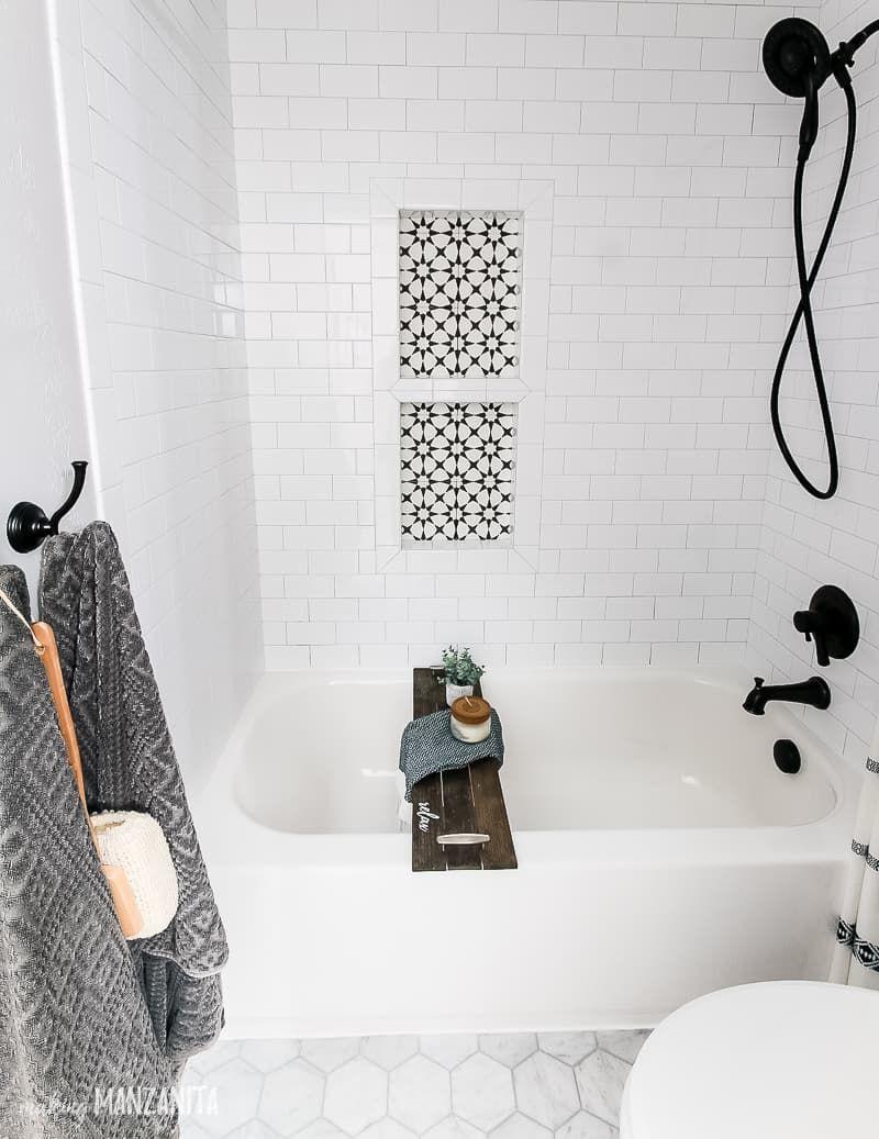 Boho Black And White Shower Curtain