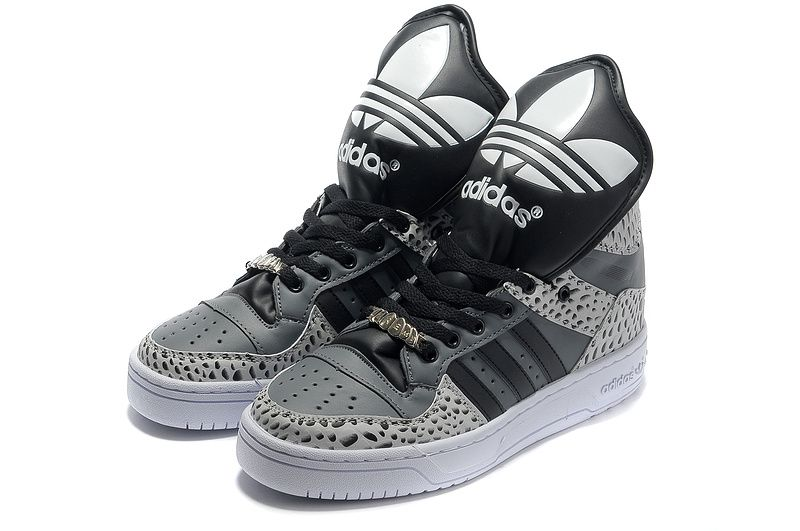 Adidas Shoes Store Authentic Scott Metro Attitude Hi Large Tongue Carbon Grey and black shoes Exce