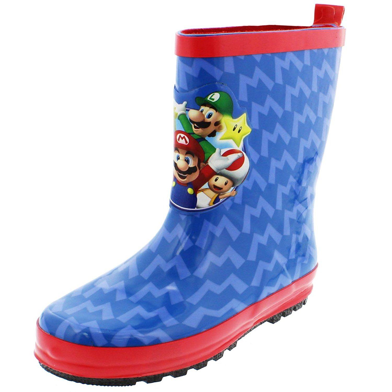 Super Mario Brothers Boys Rain Boots Little Kid Big Kid Rain Boots Nintendo Mario Luigi Toad Mario Lu Boys Rain Boots Kids Rain Boots Toddler Boy Shoes