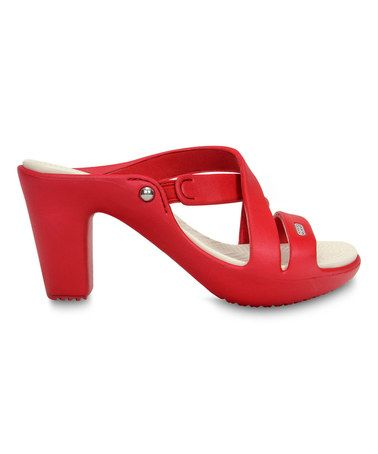 f5bc949ce556 Dark Red   Oyster Cyprus IV Sandal - Women by Crocs  zulilyfinds…so  cool…can t believe they re crocs
