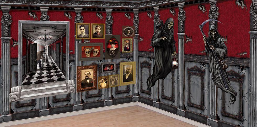 halloween scene setters room rolls for halloween scenes party city