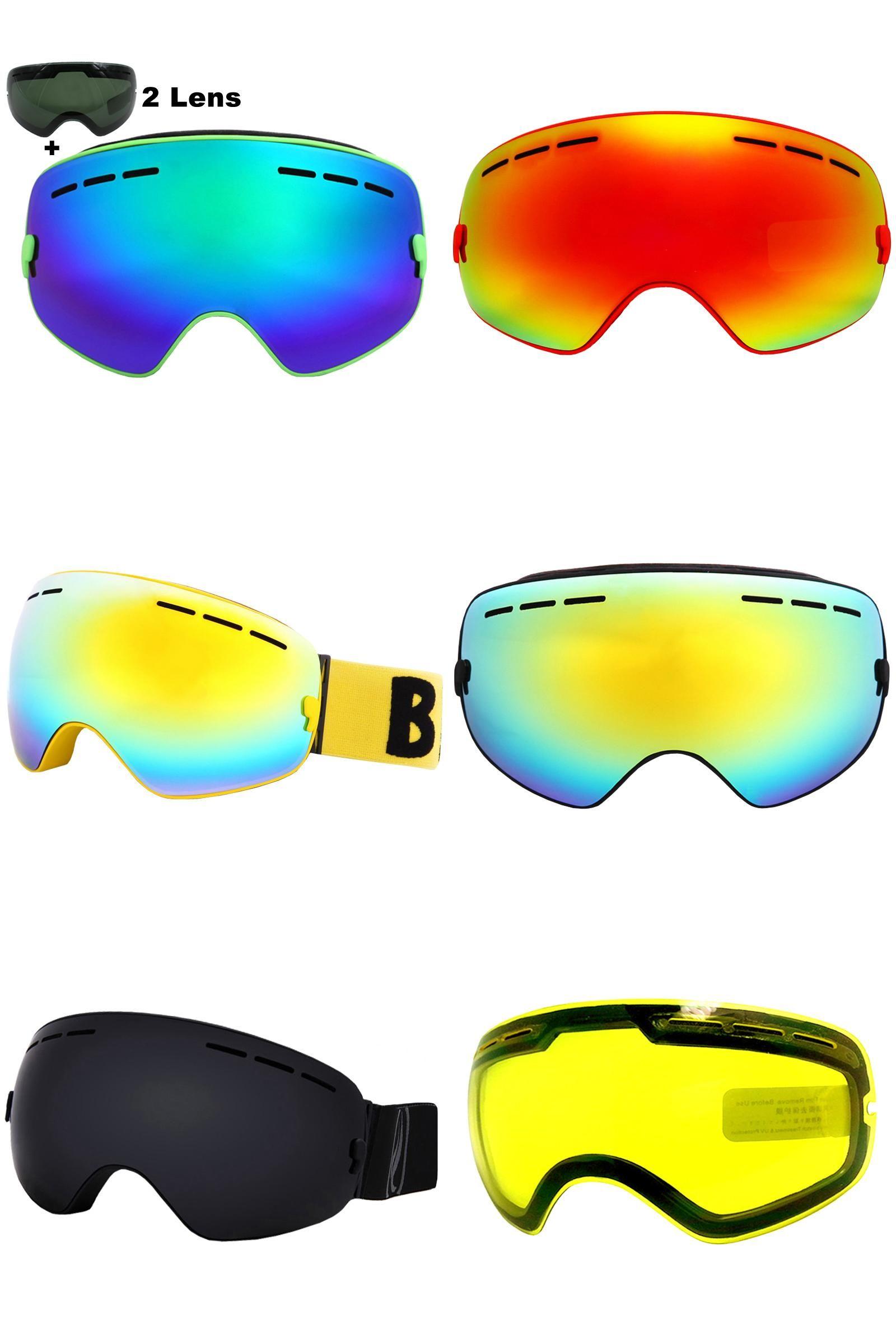 e2b851da5d3  Visit to Buy  Brand Ski Goggles Double Lens UV400 Anti-fog Large Spherical