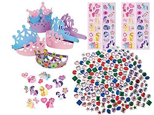 My Little Pony Party Supply Favor Craft Kit, Make Your Own MLP Tiara ...