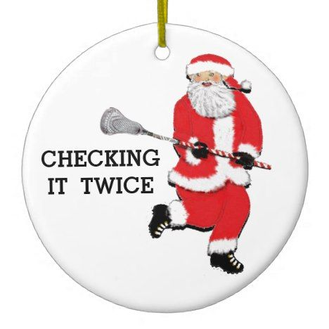 Lacrosse Christmas Collectible Ceramic Ornament #christmas #ornaments - Lacrosse Christmas Collectible Ceramic Ornament In 2018 Christmas