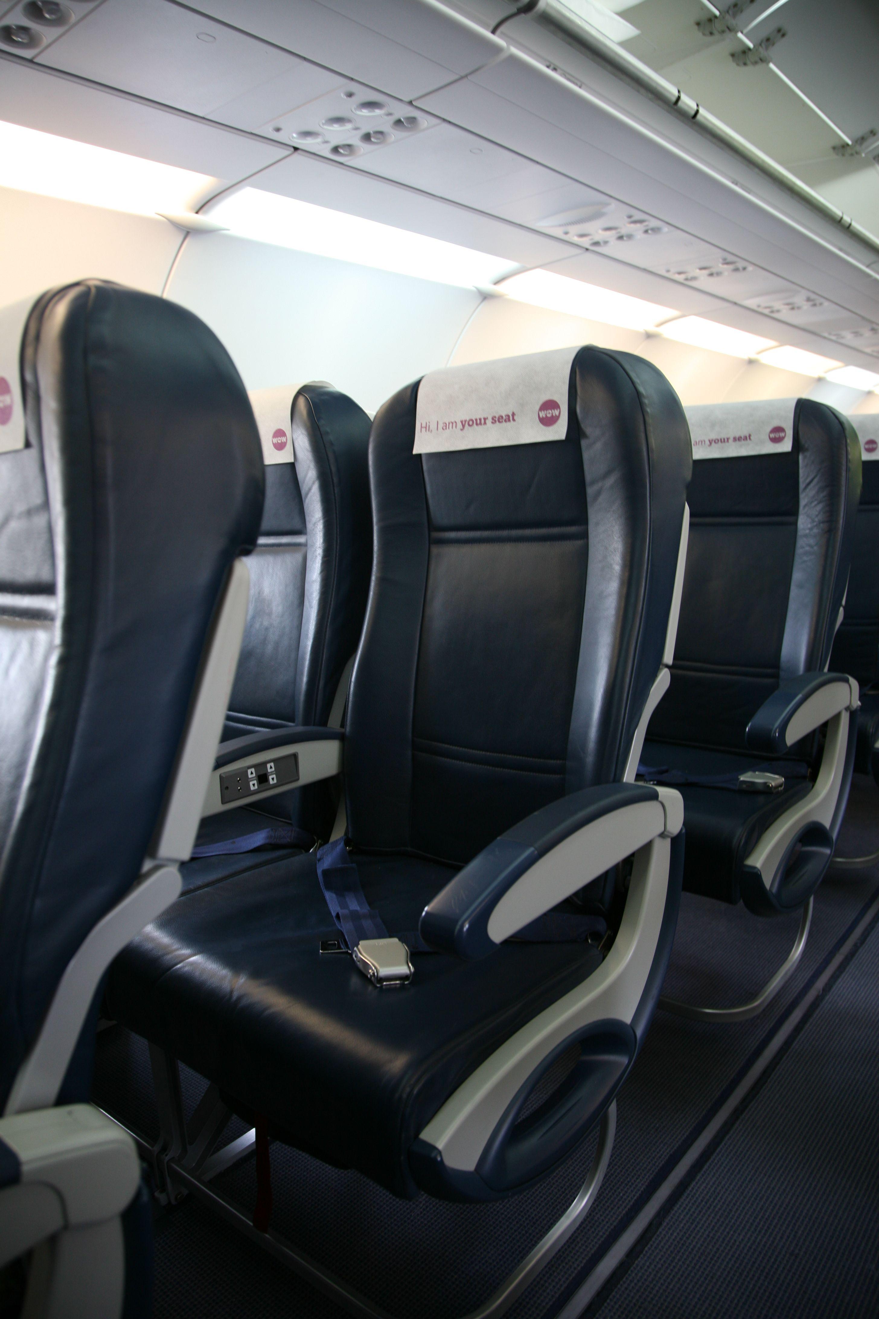 WOW air aircraft interior Wow air, Aircraft interiors