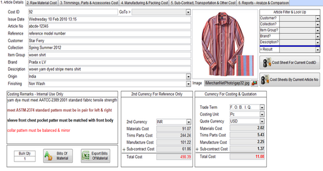 Garments Price Quotation  Creativity    Quotation