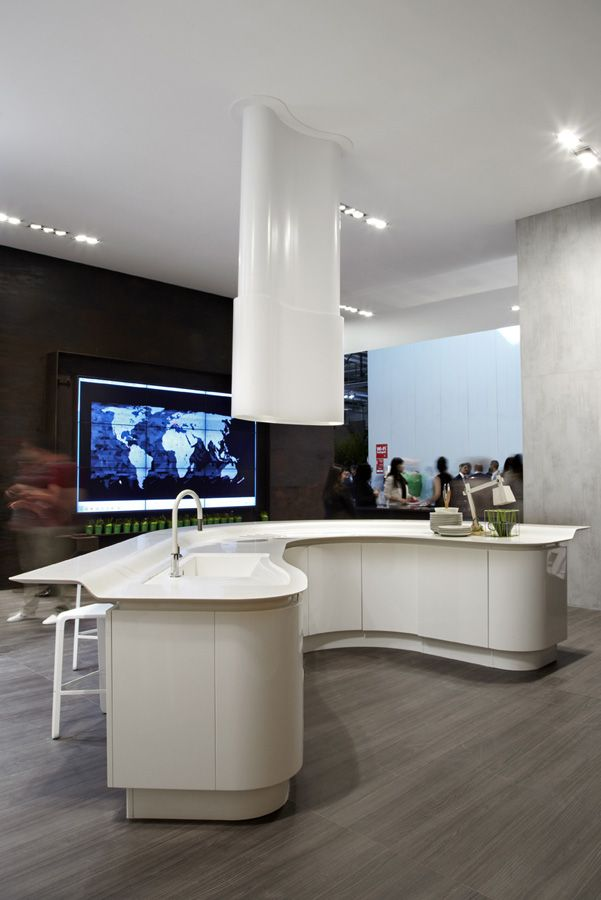 The \'Volare\' Kitchen from ARAN Cucine, presented during the ...