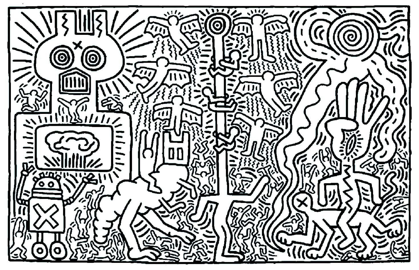 25 Beautiful Image Of Pop Art Coloring Pages Keith Haring Art