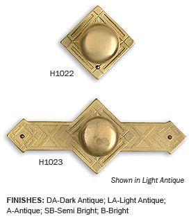 Brass Diamond Cabinet Knobs