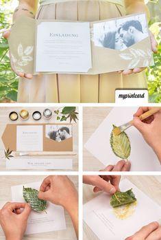 Blätter als Stempel – Greenery für Eure edlen Pocketfolds