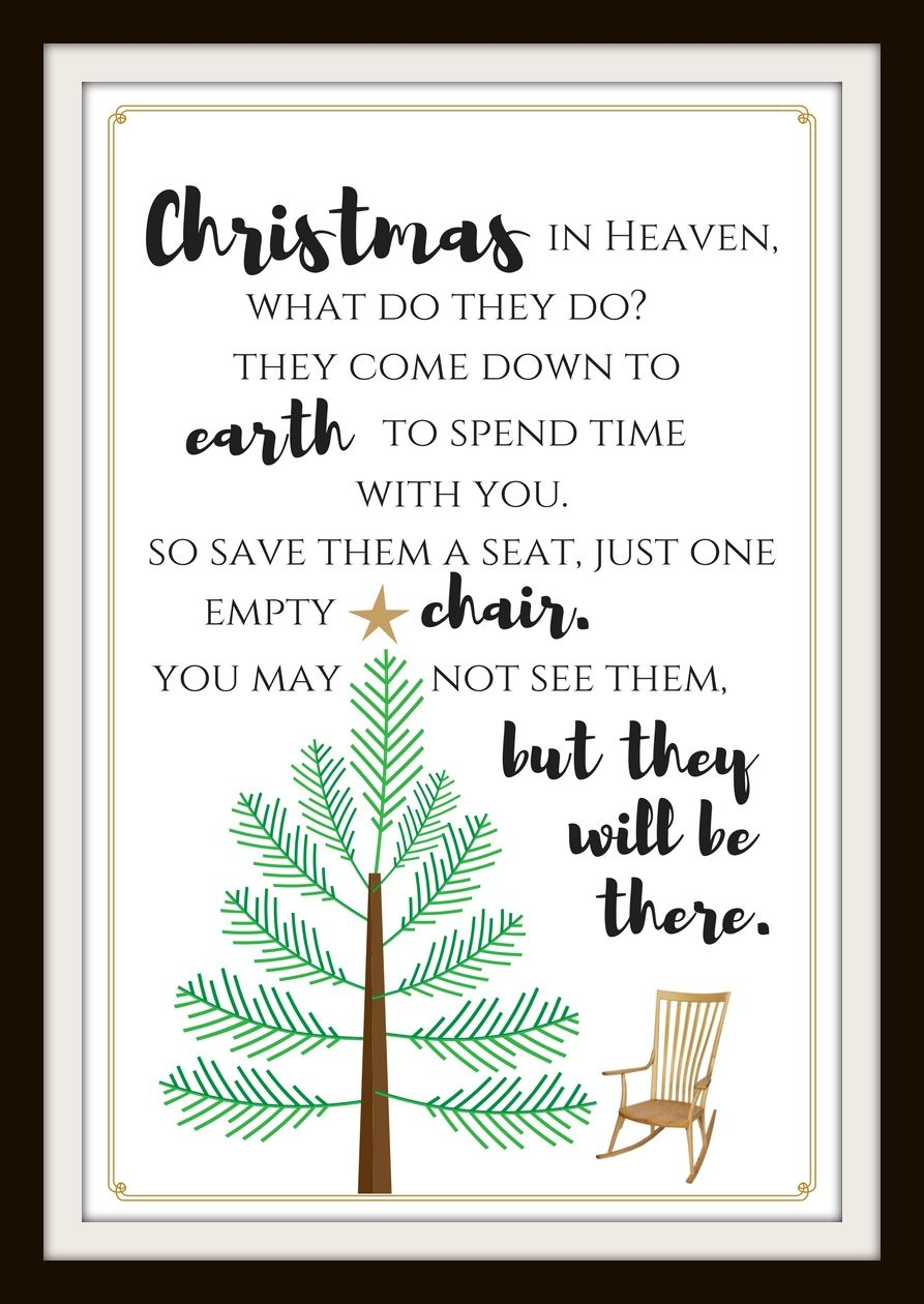For All Those Celebrating Christmas While Remembering A Loved One In Heaven