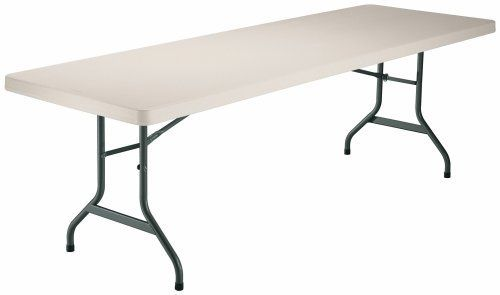 Lifetime 8 Foot Utility Table With 96 By 30 Inch Molded Top
