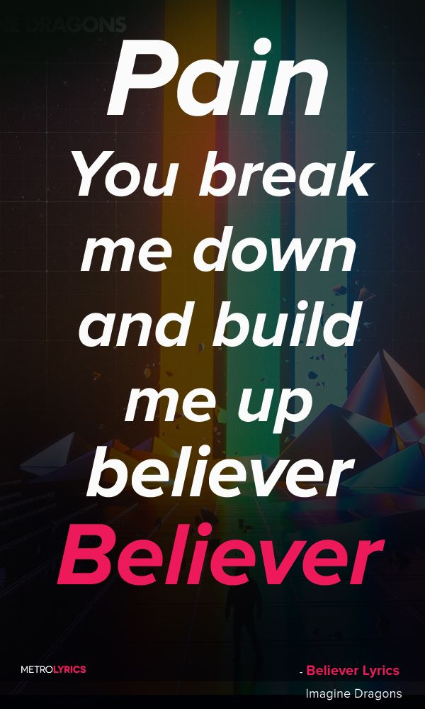 Lyric good song lyrics for photo captions : Imagine Dragons - Believer... such a good song but the radio plays ...