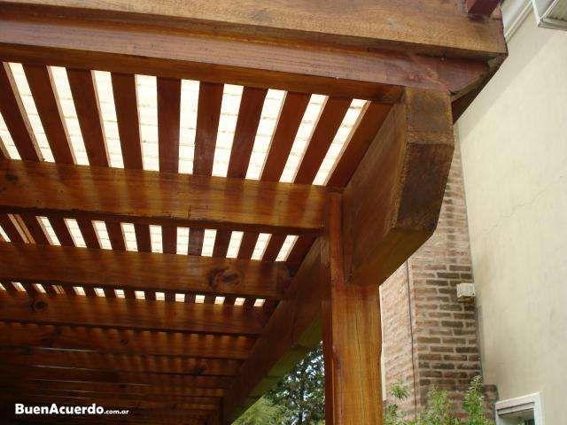 Techos de terrazas de madera