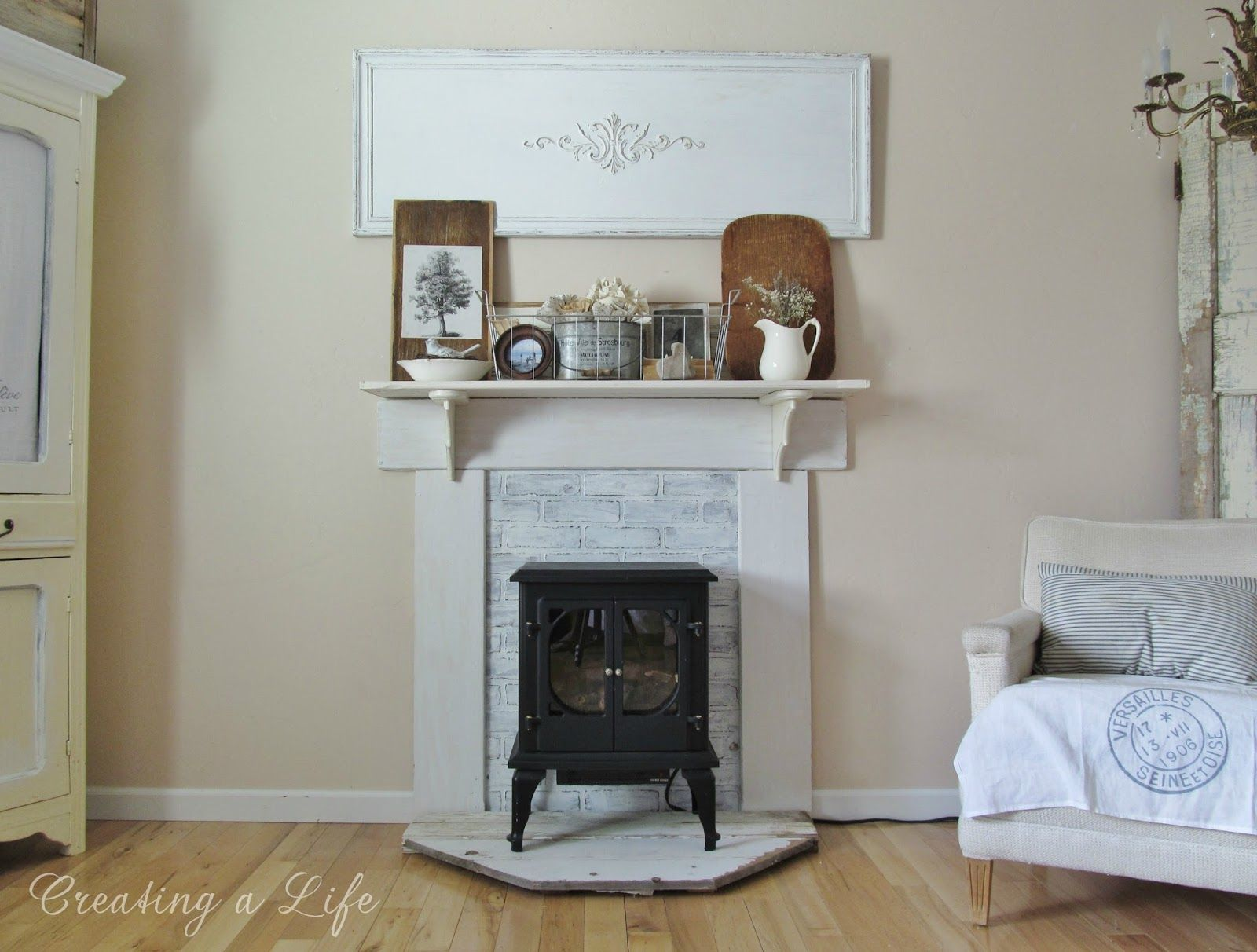 adding character to a rental home the diy faux mantel details