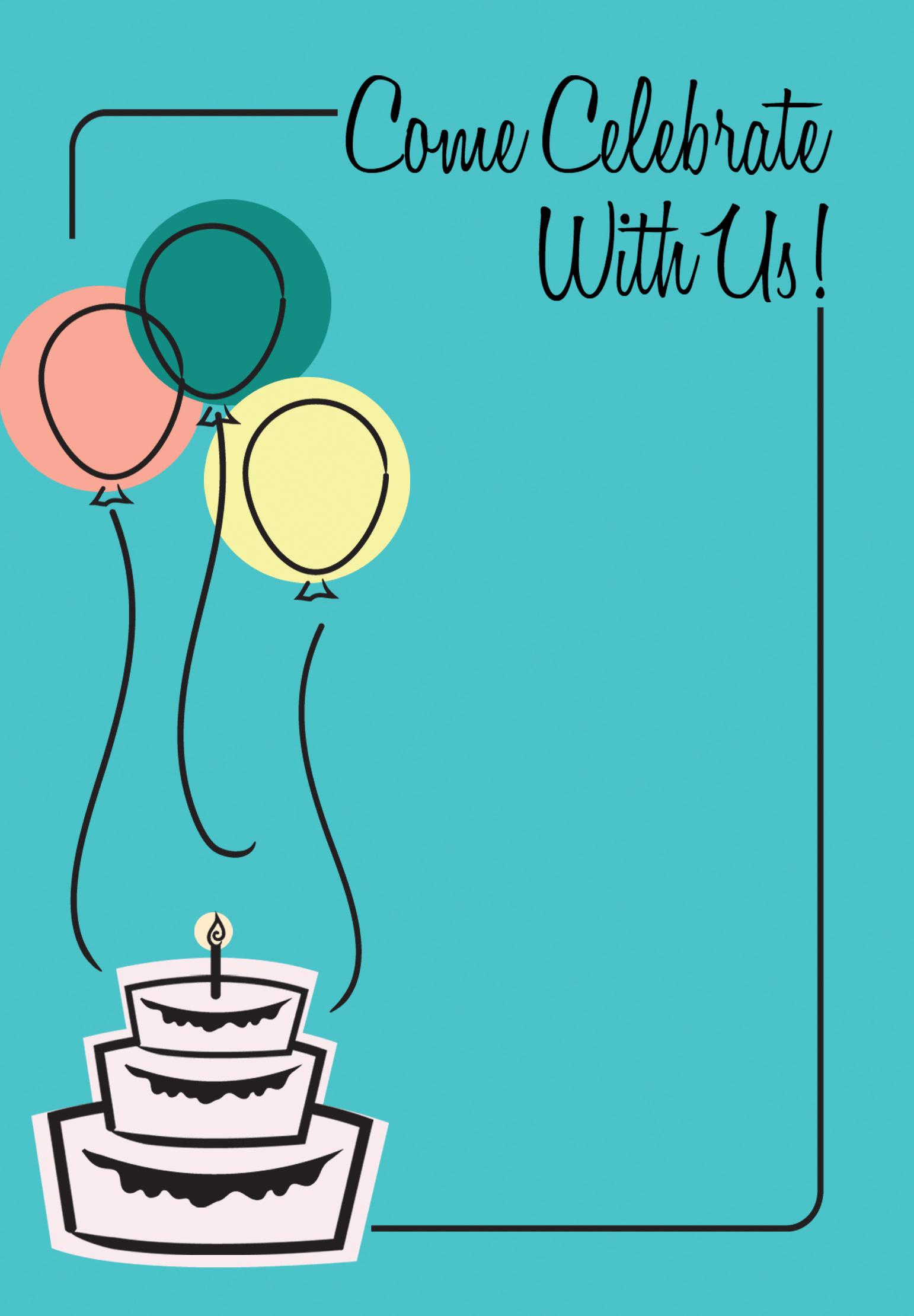 Birthday Invitation - Free Printable Birthday Invitation ...