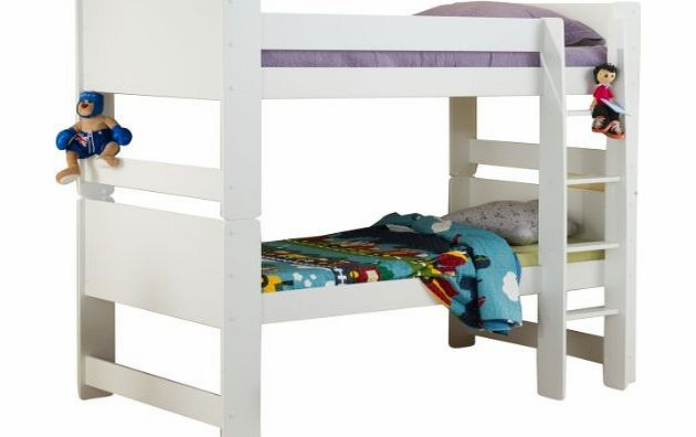 Best Birlea Cube Bunk Bed White The Cube White Wooden Bunk Bed 400 x 300