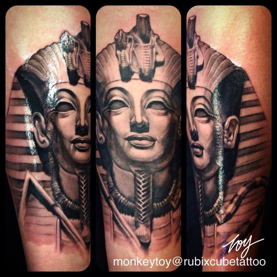 kingtut #tattoo #blackandgrey #monkeytoy | Tattoo | Pinterest ...