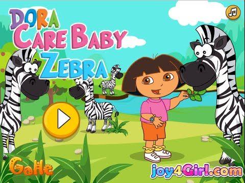 Dora Funny Games For Kids - Dora Care Baby Zebra | Minion