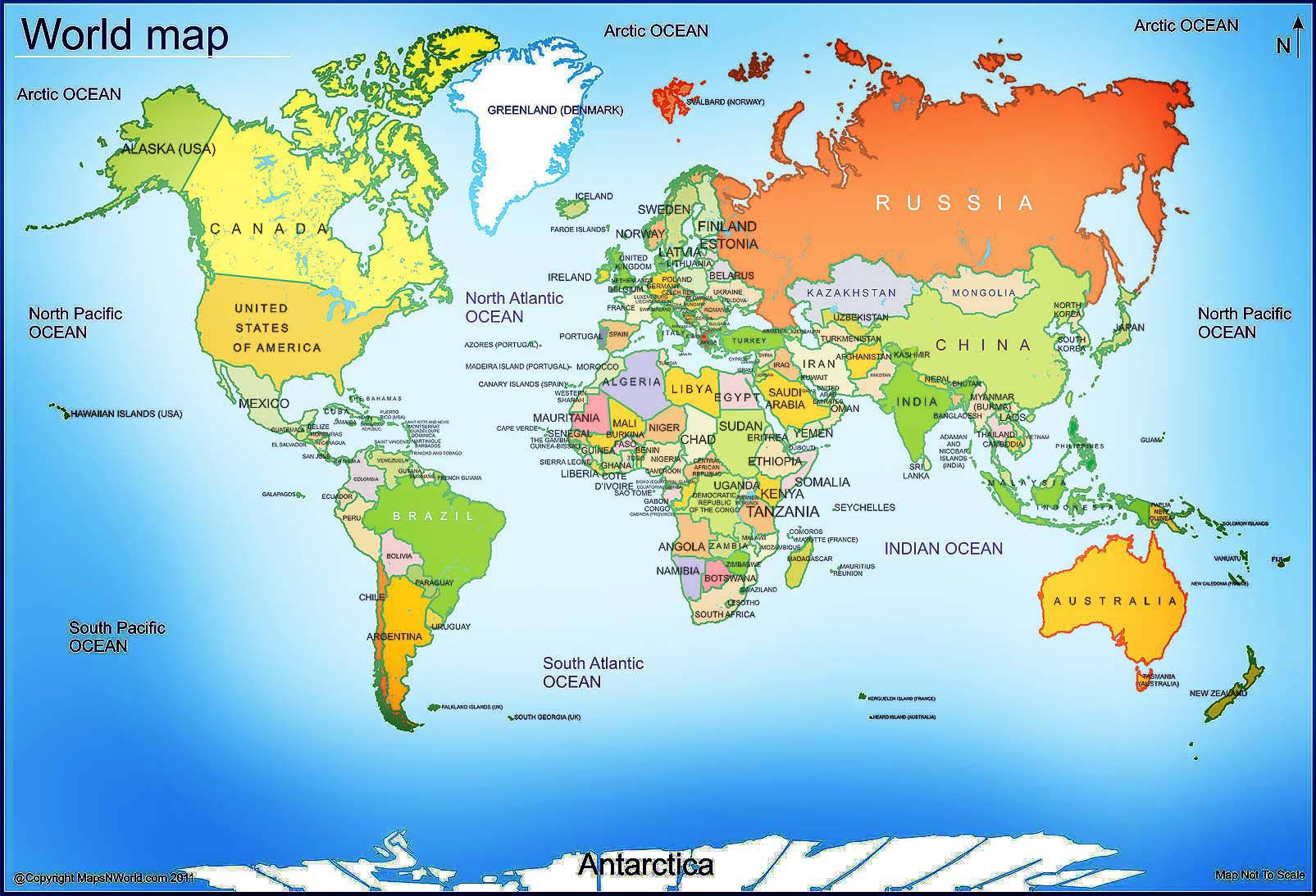 graphic regarding Printable World Map With Countries called world wide map - No cost Higher Shots maps Entire world map with