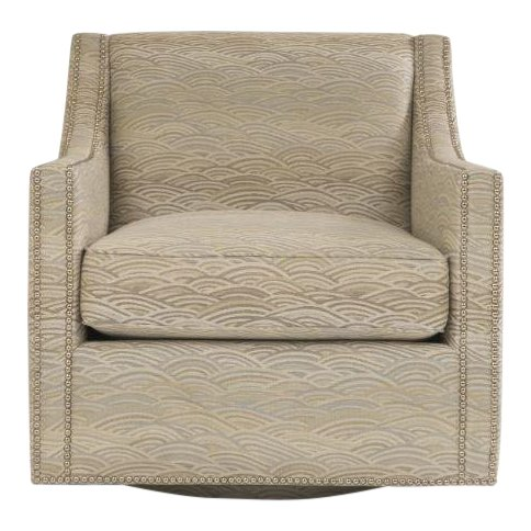 Excellent Transitional Tan And Nickel Colored Swivel Club Chair Short Links Chair Design For Home Short Linksinfo