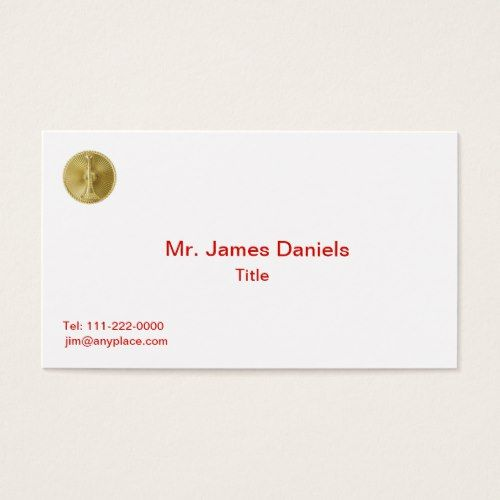 Firefighter 1 bugle medallion business card firefighter and shop us coast guard rear admiral retired shield business card created by militarize colourmoves
