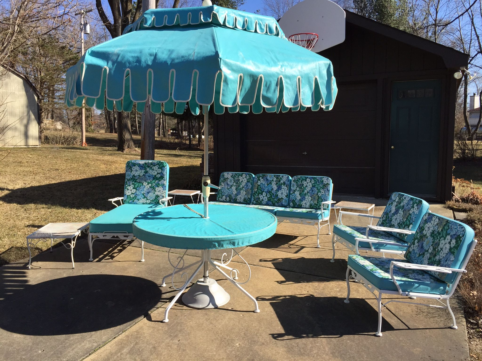 1960' Patio Set. Stored In Enclosed Porch 50 Years