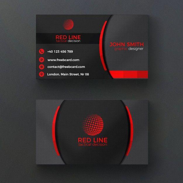 Entreprise Rouge Et Noir Carte De Visite Psd Gratuit