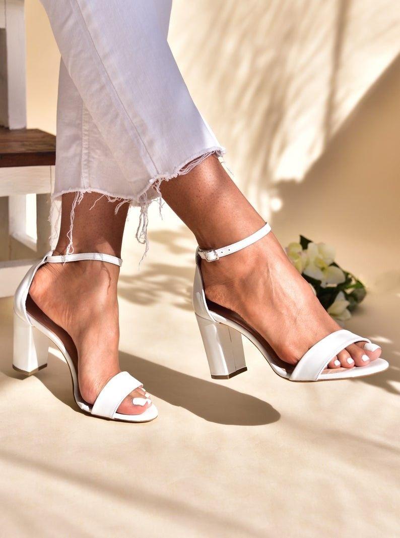 26++ White wedding sandals heels ideas in 2021