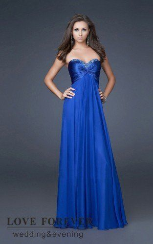 Vestido de festa azul tomara que caia